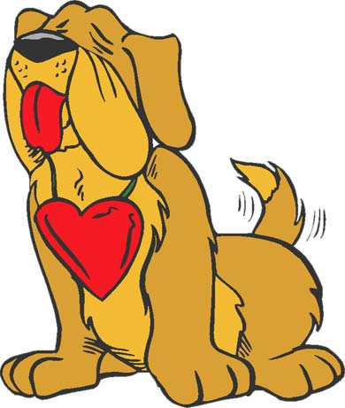 dog with heart valentine