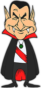 count dracula with a big smile