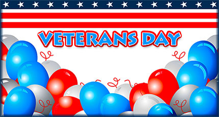 Veterans Day with balloons