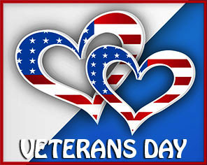 Veterans Day with hearts